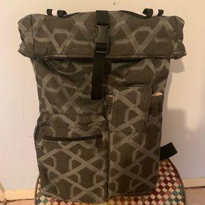 Handbags - Steel gray geometric laptop backpack